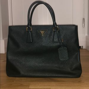 Dark green Prada bag